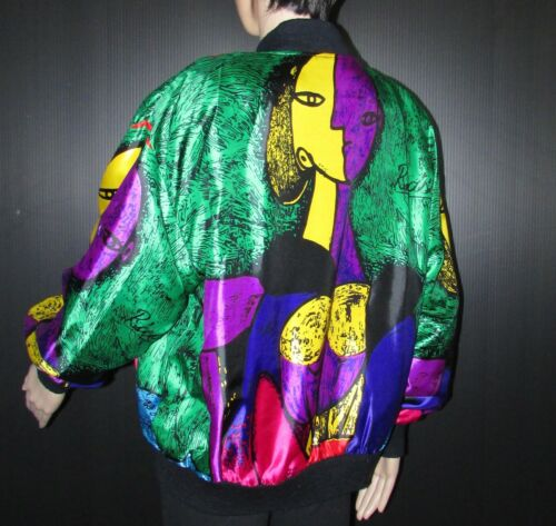 Abstrakt Picasso Unisexe Jacket Size One Multicolor eller Bomber Vest Smukke 5qpxFwnx