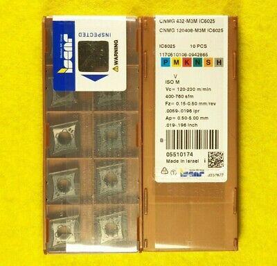 Iscar CNMG 120408-M3M IC6025 CNMG 432-M3M IC6025; 10 inserts//box