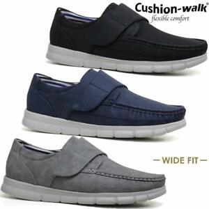 mens new slip on casual boat deck mocassin wide fit