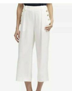 1374ad778460 NEW - DKNY Women s HUDSON BLUES WIDE LEG GOLD BUTTON DETAIL White ...