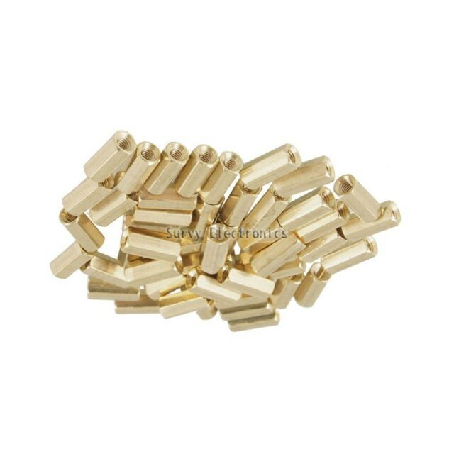 50pcs M3 10 mm Hexagonal net nut Female brass Standoff/Spacer New Good Quality