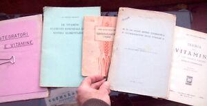 1928-LOTTO-DI-VOLUMI-E-MEMORIE-SULLE-VITAMINE-NELL-039-ALIMENTAZIONE