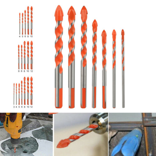 Multifunctional Ultimate Drill Bits Ceramic Glass Punching Hole Working 6mm-12mm