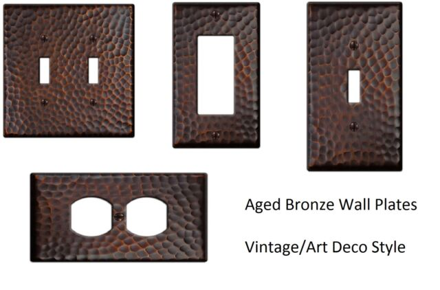 Aged Bronze 4 Amerelle 163DDB Traditional Steel Wallplate Outlet