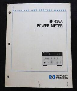 vintage hewlett packard hp 436a power meter opererating service rh ebay com 8482A Power Meter hp 436a power meter manual pdf