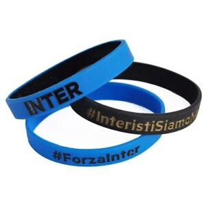 Set-3-braccialetti-Ufficiali-Inter-Internazionale-interisti-siamo-noi-silicone