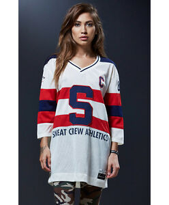 Image is loading NEW-WOMEN-039-S-SWEAT-CREW-HOCKEY-JERSEY- fa32c883af