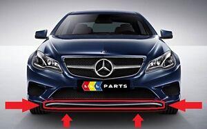 Nuevo-Genuino-Mercedes-MB-Clase-E-W207-FACELIFT-PARACHOQUES-Delantero-labio-inferior-Cromo