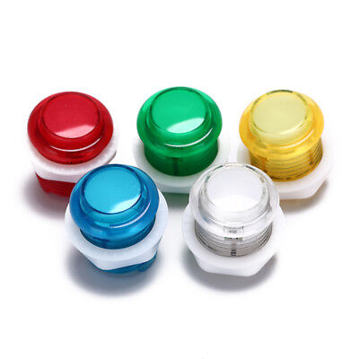 uxcell Game Push Button 33mm 12V LED Illuminated Push Button Switch with Micro Switch for Arcade Video Games 2 Person Icon White 1pcs