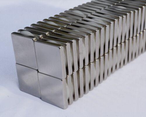 10/25/50/100 SQUARE MAGNETS 1 x 1 x 1/4 STRONGEST N52 Rare Earth Neodymium 53