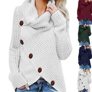Women-Tops-Long-Sleeve-Cardigan-Jumper-Sweater-Knitwear-Winter-Knitted-Outwear