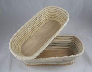 Gärkorb Brotform Peddigrohr Mit Holzboden 1,0 Kg Lang Das Ganze System StäRken Und StäRken Gastro & Nahrungsmittelgewerbe Business & Industrie