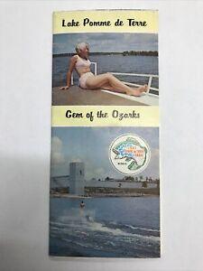 Vintage Lake Pomme De Terre League Gem Of The Ozark's Map Brochure Guide