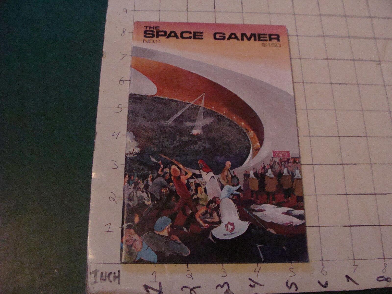 HIGH GRADE  sci fi  THE spazio giocoR  11; 50pgs, APR-JUNE 1977 --RARE EARLY ISSUE  Senza tasse