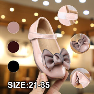 Baby Shoes Newborn Infant Bow Mary Jane Girls Princess Soft Leather Flat Shoes