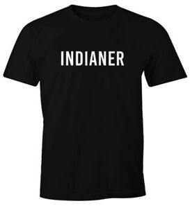 Herren-T-Shirt-Indianer-Fasching-Karneval-Fastnacht-Faschings-Shirt-Fun-Shirt