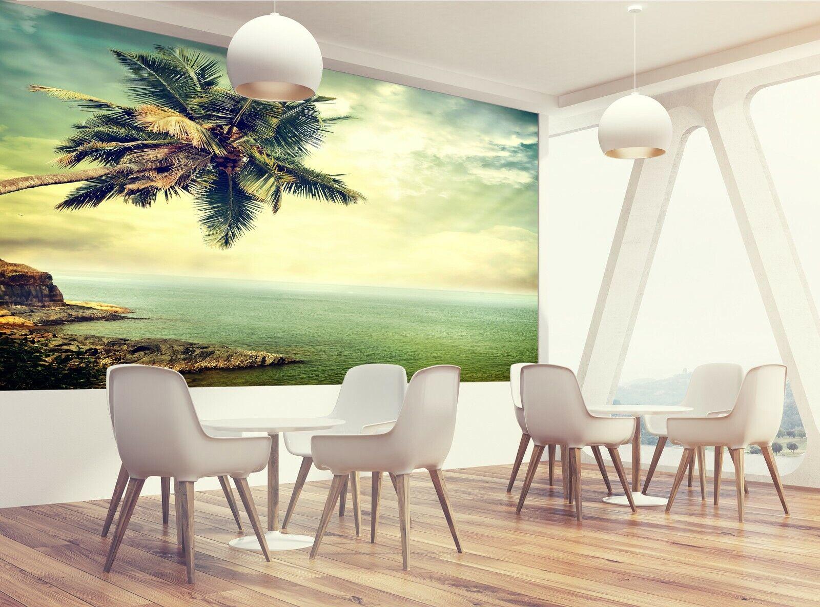 Meer, Himmel, Palmwall Mural Photo Wallpaper GIANT WALL DECOR Free Glue