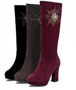 Rangers Talon Bottines Femme 10 Synthetique Chaud 9114 Bottes Chaussures Cm Détails Cuir Sur redxCBo