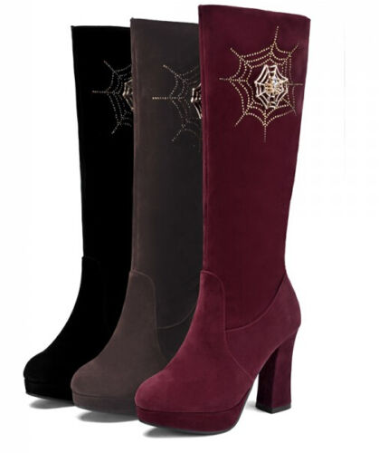 Bottes Chaussures Comme 10 Cuir Cm Femme Confortable Talon Rangers Bottines Ta716qa