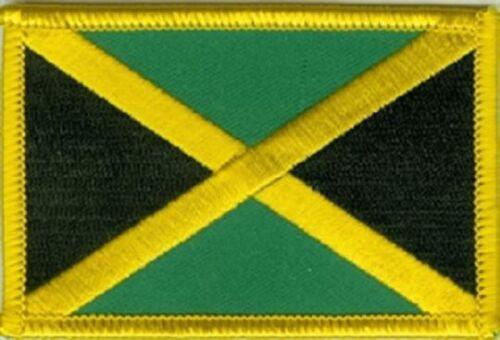 Ricamate Giamaica bandiera bandiera aufbügler Patch 8 x 5 cm