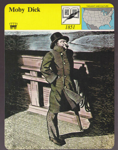 MOBY DICK Herman Melville Novel Bio Artwork STORY OF AMERICA CARD