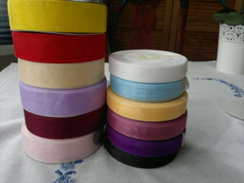 3//10// 16// 25//38// 50 MM Wide ORGANZA RIBBONS   ASSORTED COLOURS