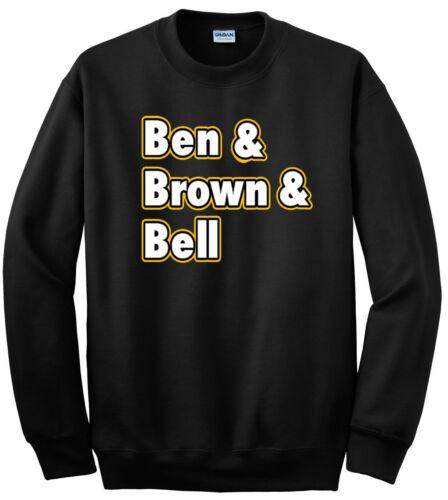 "Bell/"" jersey Hooded SWEATSHIRT Brown Pittsburgh Steelers The Big Three /""Ben"
