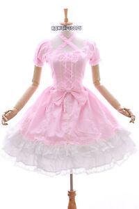 jl-624-2-Rosa-Blanco-Vestido-Elastico-Classic-Lolita-Gotica-TRAJE-Cosplay