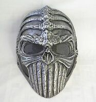 Cool Fiber Resin Airsoft Paintball Wire Mesh Protection Spine Skull Terror Mask