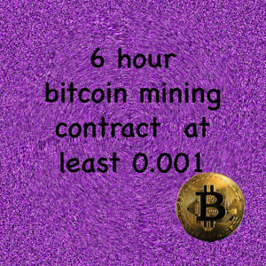 Processing Speed TH//s Mining Contract 24 Hours bitcoin 0.001 BTC