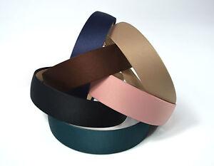 Wide-3cm-Satin-Headband-Hair-Band-Alice-Band-Korean-Hairband-Head-Wear-6COLOURS