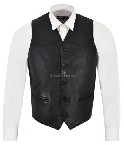 Zara Gilet agnello italiano Classico in pelle Nero da uomo in pelle design di con vera nWqvAqH6cO