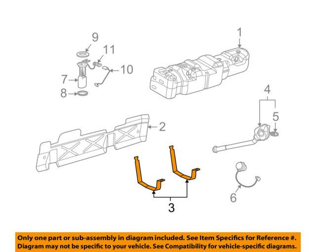 GM OEM Fuel Gas Tank-Mount Strap 15749266
