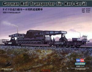 Hobbyboss-82906-1-72-German-Rail-Transporter-fur-Karl-Gerat-Model-Kit-Hot