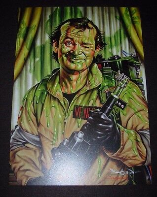 GHOSTBUSTERS Art 5X7 Postcard SLIMED Venkman like poster print jason edmiston