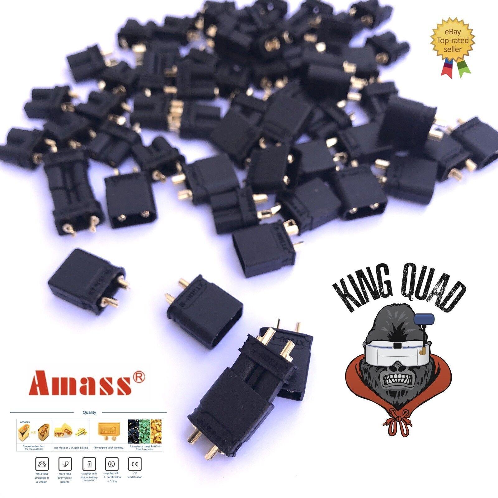Amass Black XT30U Male & Female Plug Connectors