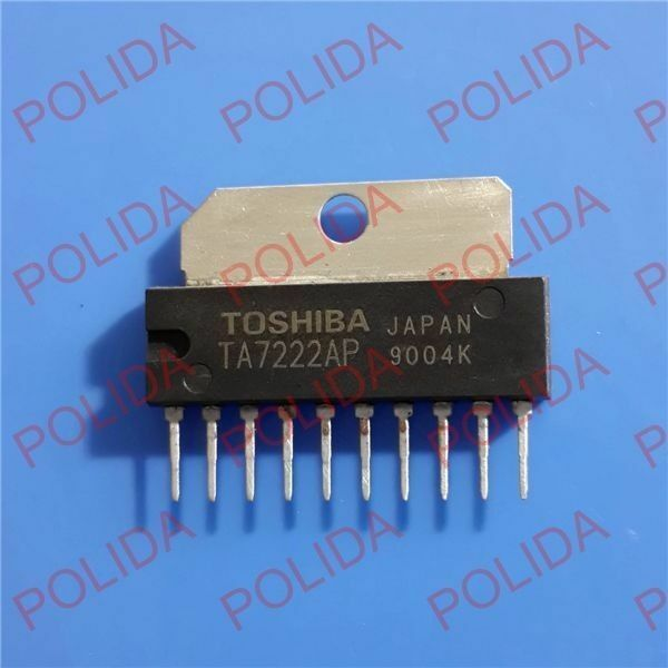 5PCS AUDIO POWER AMPLIFIER IC TOSHIBA SIP-10 TA7222AP TA7222P