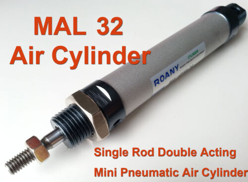 MAL 32mm x 100mm Single Rod Double Acting Mini Pneumatic Air Cylinder MAL32x100