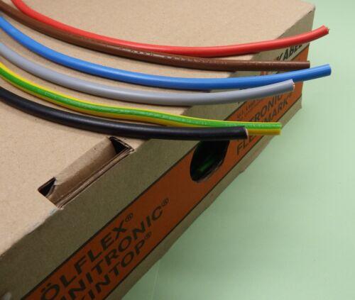 100m Braid PVC Wire Cable Flexible 10mm² h07v-k Lapp KABEL-Colour Choice