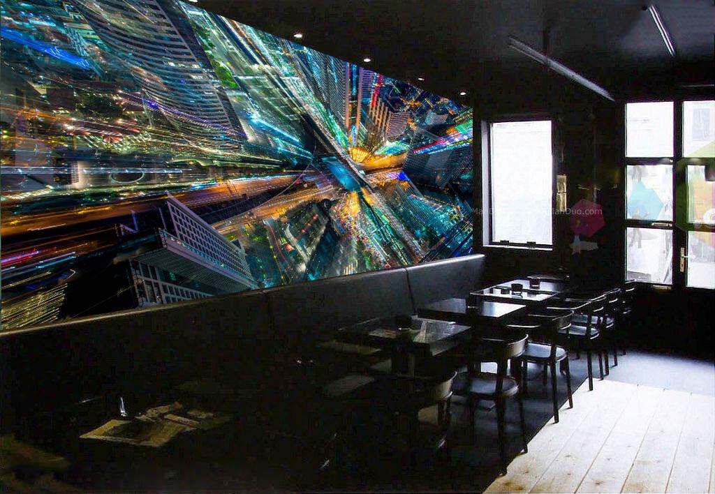 3D Lichter Stadt 562 Tapete Tapeten Mauer Foto Familie Tapete Wandgemälde DE