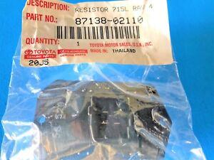 MATRIX BLOWER MOTOR 87138-02110 ! GENUINE TOYOTA COROLLA RAV4 RESISTER