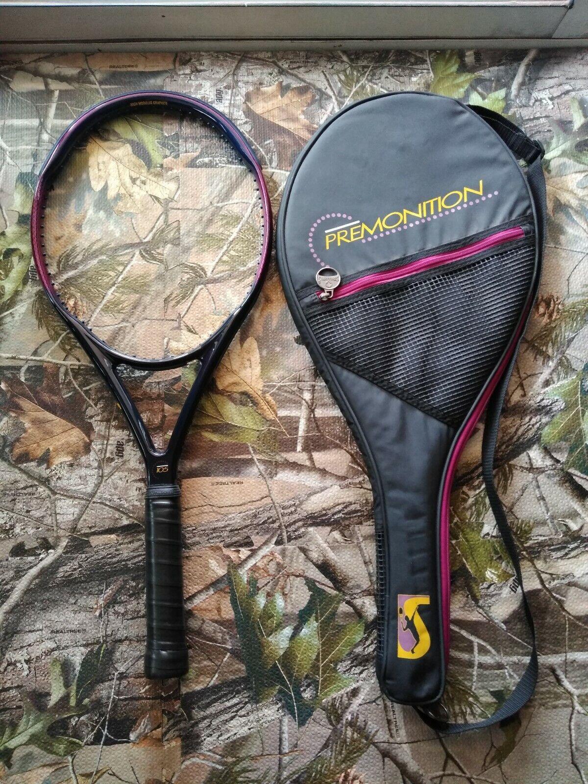 Spalding Premonition OS 105 head 4 5 8 grip Vintage Tennis Racquet with case