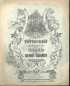 Potpourri-aus-034-Die-Walkuere-034-von-Henri-Cramer-alte-uebergrosse-Noten
