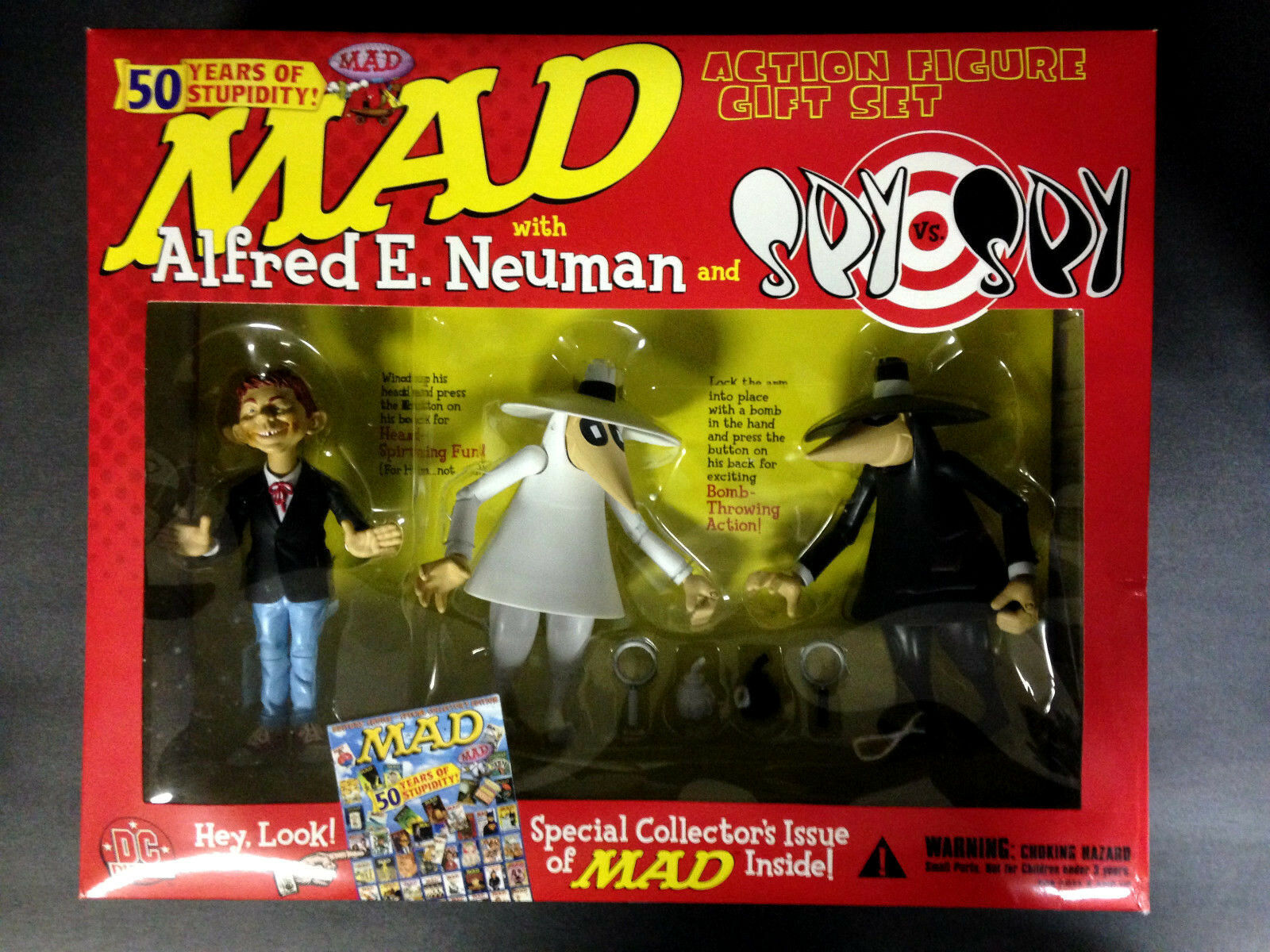 2002 DC DIRECT MAD ALFROT E. NEUMAN AND SPY VS SPY ACTION FIGURE GIFT SET D49