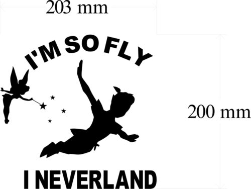 SO FLY PETER PAN DECAL 200MM WHITE VINYL