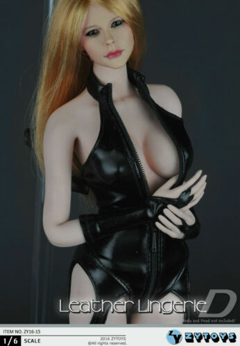 ZYTOYS ZY16-15 1//6 Female High Collar Tight Leather Lingerie F 12/'/' Figure Body