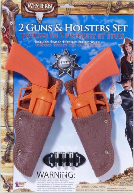 Cowboy Holster Toy Gun With Belt Fancy Dress Costume Prop