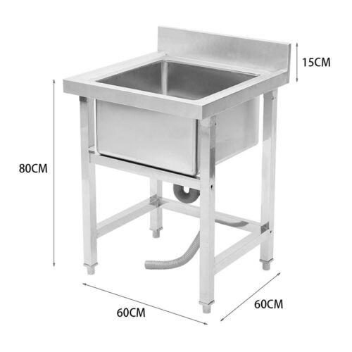 Spüle Edelstahl Gewerbespüle Gastronomiespüle Waschtisch Spültisch 1 or 2 Becken