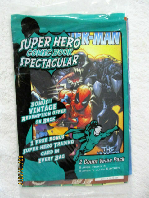 Cardsone Super Hero Comic Book Spectacular Unopened 2 Count Plus Trading Card For Sale Online Ebay