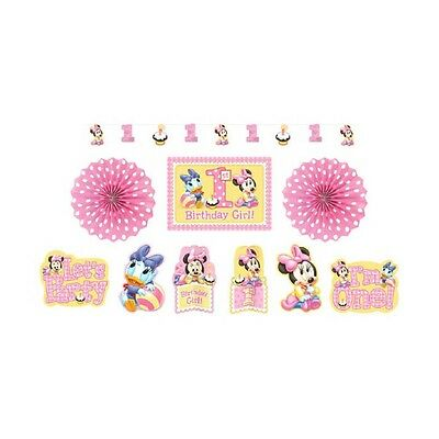 Disney Baby Minnie Mouse 1st Birthday Party Room Decoration Kit
